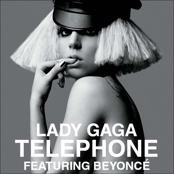 My iPhone started mixing up my album art. For Lady Gaga's Telephone song,